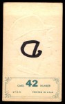 1965 Topps Embossed #42   Vada Pinson   Back Thumbnail