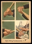 1959 Fleer #71   -  Ted Williams Hitting Fundamentals #1 Front Thumbnail
