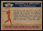 1959 Fleer #60   -  Ted Williams More Records Back Thumbnail