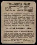 1949 Leaf #159  Mizell Platt  Back Thumbnail
