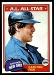 1981 Topps #480  Carlton Fisk  Front Thumbnail