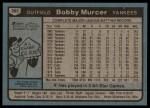 1980 Topps #365  Bobby Murcer  Back Thumbnail