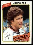 1980 Topps #590  Jim Palmer  Front Thumbnail