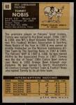 1971 Topps #60  Tommy Nobis  Back Thumbnail