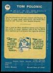 1969 O-Pee-Chee #199  Tom Polonic  Back Thumbnail
