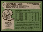 1978 Topps #157  Charlie Hall  Back Thumbnail