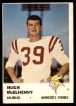 1961 Fleer #127  Hugh McElhenny  Front Thumbnail
