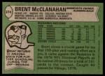 1978 Topps #274  Brent McClanahan  Back Thumbnail