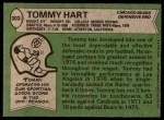 1978 Topps #302  Tommy Hart  Back Thumbnail
