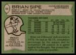 1978 Topps #53  Brian Sipe  Back Thumbnail
