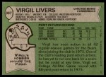1978 Topps #397  Virgil Livers  Back Thumbnail