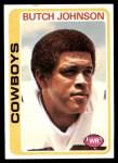 1978 Topps #252  Butch Johnson  Front Thumbnail