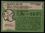 1978 Topps #211  Bucky Dilts  Back Thumbnail