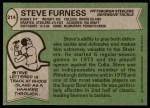 1978 Topps #214  Steve Furness  Back Thumbnail