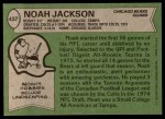 1978 Topps #437  Noah Jackson  Back Thumbnail