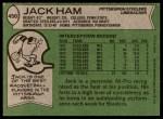 1978 Topps #450  Jack Ham  Back Thumbnail