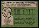 1978 Topps #435  Charley Young  Back Thumbnail