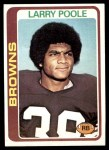 1978 Topps #184  Larry Poole  Front Thumbnail