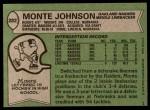 1978 Topps #282  Monte Johnson  Back Thumbnail