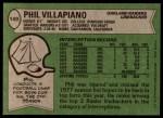 1978 Topps #149  Phil Villapiano  Back Thumbnail