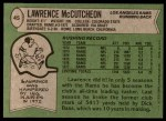 1978 Topps #45  Lawrence McCutcheon  Back Thumbnail