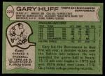 1978 Topps #223  Gary Huff  Back Thumbnail