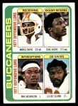 1978 Topps #527   Buccaneers Leaders Checklist Front Thumbnail