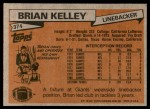 1981 Topps #374  Brian Kelley  Back Thumbnail