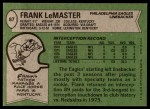1978 Topps #87  Frank LeMaster  Back Thumbnail