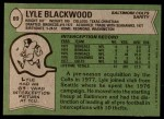 1978 Topps #89  Lyle Blackwood  Back Thumbnail