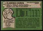 1978 Topps #306  Clarence Duren  Back Thumbnail