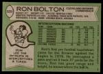 1978 Topps #329  Ron Bolton  Back Thumbnail