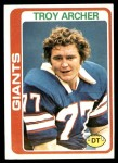 1978 Topps #492  Troy Archer  Front Thumbnail