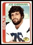 1978 Topps #398  Joe Ehrmann  Front Thumbnail