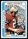1978 Topps #56  Mike Patrick  Front Thumbnail