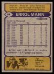 1979 Topps #68  Errol Mann  Back Thumbnail