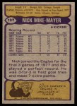 1979 Topps #107  Nick Mike-Mayer  Back Thumbnail