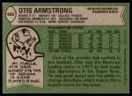 1978 Topps #465  Otis Armstrong  Back Thumbnail