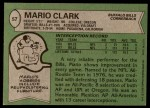 1978 Topps #57  Mario Clark  Back Thumbnail
