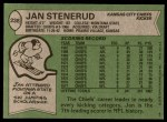 1978 Topps #238  Jan Stenerud  Back Thumbnail