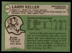 1978 Topps #247  Larry Keller  Back Thumbnail