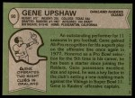 1978 Topps #90  Gene Upshaw  Back Thumbnail
