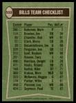1978 Topps #503   Bills Leaders Checklist Back Thumbnail