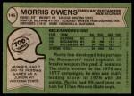 1978 Topps #146  Morris Owens  Back Thumbnail