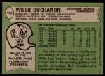 1978 Topps #198  Willie Buchanon  Back Thumbnail