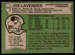 1978 Topps #256  Joe Lavender  Back Thumbnail