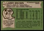 1978 Topps #234  Larry Brown  Back Thumbnail