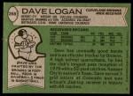 1978 Topps #268  Dave Logan  Back Thumbnail