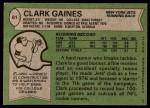 1978 Topps #81  Clark Gaines  Back Thumbnail
