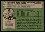 1978 Topps #116  Steve Nelson  Back Thumbnail